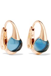 Pomellato M'ama Non M'ama 18 Karat Rose Gold Topaz Earrings Red