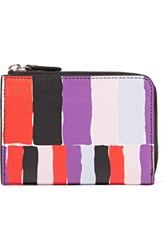Emilio Pucci Printed Textured Leather Wallet Violet