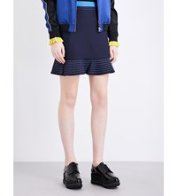 Opening Ceremony William Stretch Jersey Mini Skirt Deep Navy