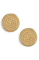 Argentovivo Argento Vivo Rope Stud Earrings Gold