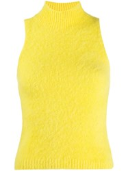 Versace Sleeveless Knitted Top Yellow