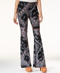 Jessica Simpson Moxie Printed Flare Leg Pants Charcoal