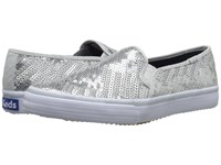 Keds Double Decker Sequin Silver Women's Slip On Shoes