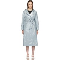 Alexachung Blue Hooded Rain Coat