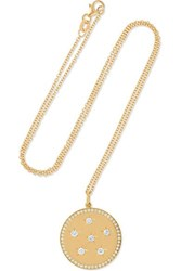Andrea Fohrman New Full Moon 18 Karat Gold Diamond Necklace