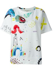 Marc Jacobs 'Collage Print' Sweatshirt White