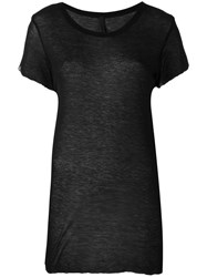 Barbara I Gongini Short Sleeve T Shirt Women Viscose 36 Black