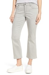 Eileen Fisher 'S Organic Cotton Blend Crop Flare Jeans Sun Bleached Gray