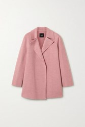 Theory Wool And Cashmere Blend Coat Antique Rose