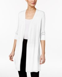 Alfani Mixed Stitch Duster Cardigan Only At Macy's Soft White