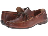 Frye Lewis Tie Cognac Oiled Vintage Men's Lace Up Casual Shoes Brown
