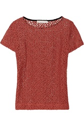 Kain Label Galina Embroidered Cotton Blend Lace Top