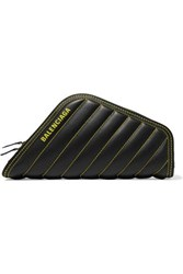 Balenciaga Car Printed Quilted Leather Clutch Black