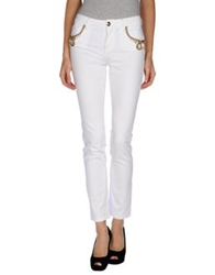 Blumarine Denim Pants White
