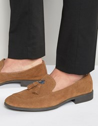 Dune Tassel Loafers Brown Suede Brown