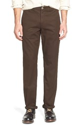 Bonobos Men's Straight Fit Washed Chinos Vintage Brown