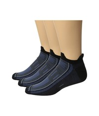 Wrightsock Endurance Double Tab 3 Pack Black Denim Crew Cut Socks Shoes