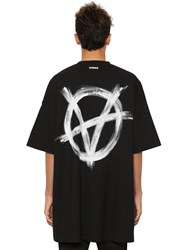 Vetements Oversize Printed Cotton Jersey T Shirt Array 0X57586a8