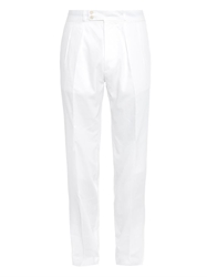 Faconnable Slim Leg Cotton Twill Trousers