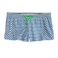 J.Crew Placed Stripe Board Short Bright Grotto Ivory