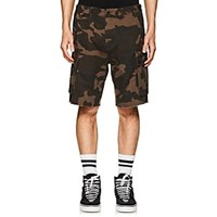 Ovadia And Sons Camouflage Cotton Cargo Shorts Olive Pat.
