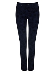 Phase Eight Victoria Rose Flock Jeans Ink