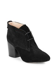French Connection Dinah Suede Ankle Booties Black