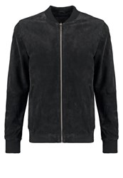 Solid Amare Leather Jacket Black