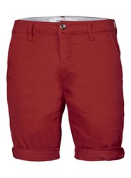 Topman Brown Long Length Stretch Skinny Chino Shorts