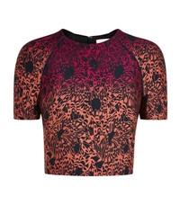 Matthew Williamson Wing Lace Brocade Boxy Top