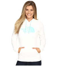 The North Face Half Dome Hoodie Tnf White Ice Green Women's Sweatshirt