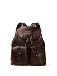 Michael Kors Textured Leather Backpack Brown