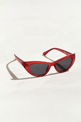 Urban Outfitters Uo Plastic Cat Eye Sunglasses Red