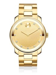 Movado Ip Gold Stainless Steel Bracelet Watch