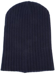 The Elder Statesman Cashmere Summer Cap Blue