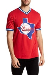 Wright And Ditson V Neck Eephus Rangers Tee Red