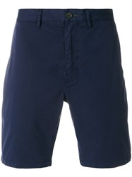 Paul Smith Ps By Chino Shorts Men Cotton Spandex Elastane 28 Blue