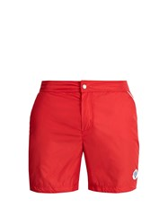 Robinson Les Bains Oxford Long Swim Shorts Red