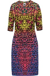 M Missoni Jacquard Knit Dress Purple