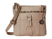 The Sak Kendra Leather Crossbody Shitake Metal Cross Body Handbags Beige