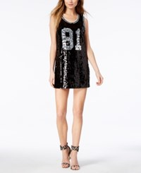 Guess 1981 Sleeveless Sequin Dress Jet Black