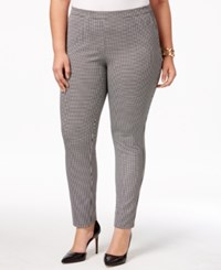 Alfani Plus Size Printed Pull On Skinny Pants Only At Macy's Ditsy Angle