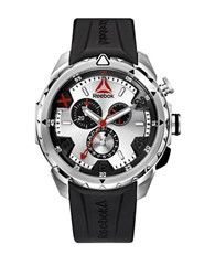 Reebok Impact Chrono Stainless Steel And Silicone Strap Watch Black