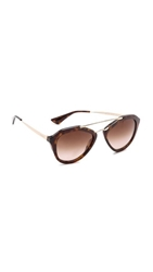 Prada Aviator Sunglasses Brown Brown