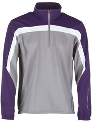 Galvin Green Men's Bart Half Zip Gore Windstopper Steel