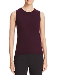 Bloomingdale's C By Sleeveless Cashmere Sweater Eggplant