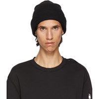 Alyx Black Ribbed Wool Beanie
