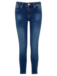 Oasis Havana Skinny Zip Cropped Jeans Light Wash