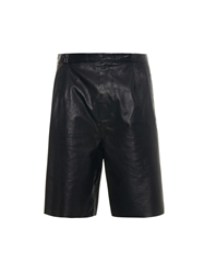 Balenciaga Bonded Leather Shorts
