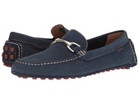 Hush Puppies Longin Terveen Navy Nubuck Men's Slip On Shoes Blue
